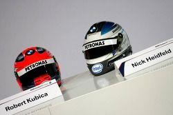 Helme von Nick Heidfeld und Robert Kubica, BMW Sauber