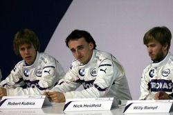 Nick Heidfeld, Robert Kubica; und Sebastian Vettel, BMW Sauber