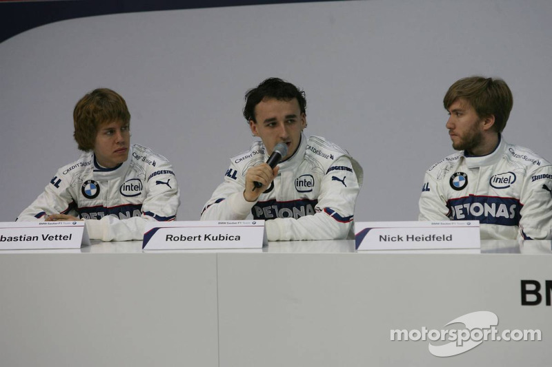 Sebastian Vettel, Robert Kubica ve Nick Heidfeld
