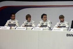 Timo Glock, Sebastian Vettel, Robert Kubica ve Nick Heidfeld
