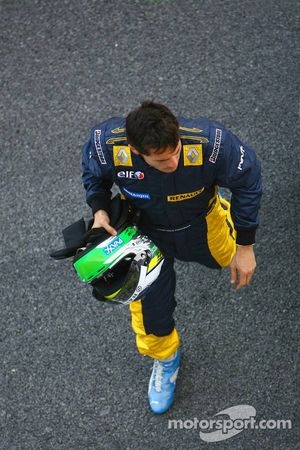 Giancarlo Fisichella after a spin in the gravel