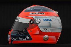 Helm von Robert Kubica, BMW Sauber