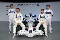 Sebastian Vettel, Nick Heidfeld, Robert Kubica and Timo Glock