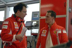 Nikolas Tombazis y Michael Schumacher
