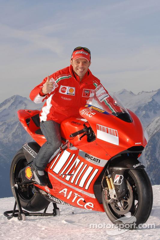 Loris Capirossi with the Ducati Desmosedici GP7