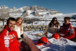 Loris Capirossi with Ingrid, Casey Stoner with Adriana