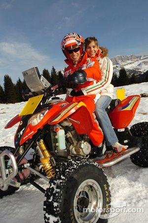 Casey Stoner with Adriana