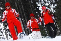 Casey Stoner, Loris Capirossi and Vittoriano Guareschi
