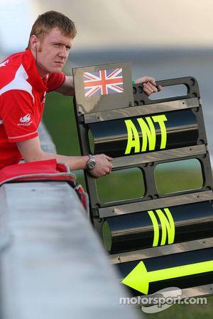 Super Aguri F1 Team Pit tabelası, Anthony Davidson
