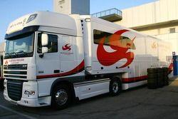 Super Aguri F1 team truck