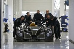 Dyson Racing Porsche RS Spyder leaves the Porsche factory for Poughkeepsie, NY