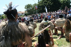 A Maori welcome for the A1GP Drivers
