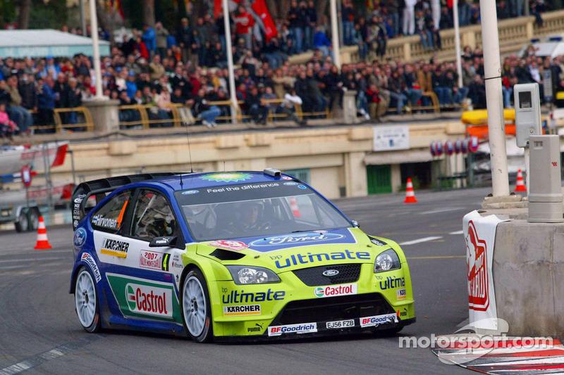 Znalezione obrazy dla zapytania Ford Focus wrc 2007 rally monte carlo mikko hirvonen