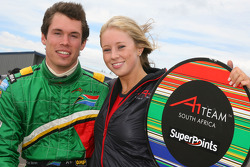Alan van der Merwe with a grid girl
