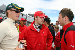 Alan van der Merwe with James Hinchcliffe and Alex Khateeb