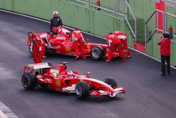 Felipe Massa and Kimi Raikkonen