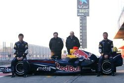 David Coulthard, Mark Webber, Christian Horner, Red Bull Racing, Director deportivo, Adrian Newey, Red Bull Racing, Director de operaciones técnicas