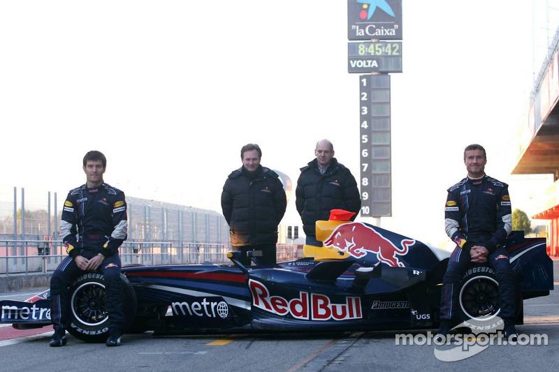 David Coulthard, Mark Webber, Christian Horner, Red Bull Racing, Director deportivo, Adrian Newey, Red Bull Racing, Director de operaciones técnicas