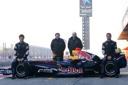 David Coulthard, Mark Webber, Christian Horner, Red Bull Racing, Sporting Director, Adrian Newey, Red Bull Racing, Technical Operations Director