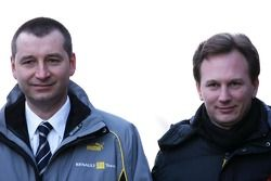 Rob White, Motorenentwicklung Renault F1; Sportdirektor Christian Horner, Red Bull Racing