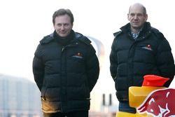 Christian Horner, Red Bull Racing, Sportdirektor; Adrian Newey, Red Bull Racing, Technischer Direkto