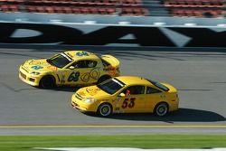 #68 SpeedSource Mazda RX-8: Scott Schlesinger, Sylvain Tremblay and #53 Predator Auto Sport Chevrolet Cobalt: Tyler Givogue, Robert Boyer