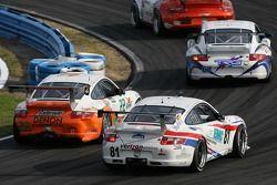 Alegra Motorsports/ Fiorano Racing Porsche GT3 Cup : Carlos de Quesada, Jean-François Dumoulin, Scooter Gabel, Marc Basseng; Synergy Racing Porsche GT3 Cup : Steve Johnson, Patrick Huisman, Richard Westbrook, Richard Lietz