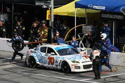 Pitstop for #70 SpeedSource Mazda RX-8: David Haskell, Sylvain Tremblay, Nick Ham, Randy Pobst, #68 TRG Porsche GT3 Cup: Ted Ballou, Rocco DeSimone II, Brad Jaeger, Chris Gleason