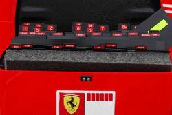 Scuderia Ferrari pitboard numbers ve names box including Michael Schumacher
