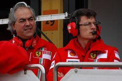 Luigi Mazzola Scuderia Ferrari, Test Team Manager, and Chris Dyer, Scuderia Ferrari, Race Engineer