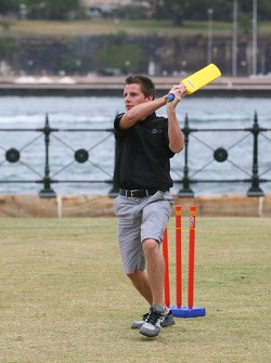 Jonny Reid plays cricket