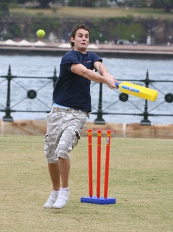 Oliver Jarvis plays cricket