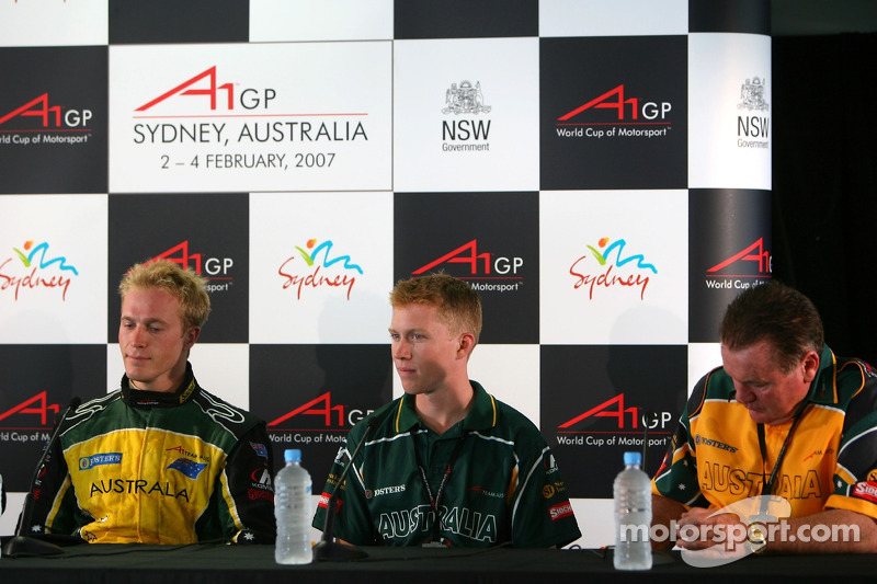 Press conference: Karl Reindler, Ian Dyk, Alan Jones, Seatholder of A1Team Australia
