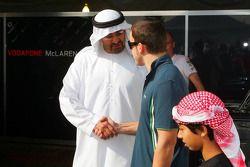 Sheikh Mohammed bin Zayed al Nahayan ve Fernando Alonso, McLaren Mercedes