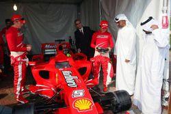 Sheikh Mohammed bin Zayed al Nahayan ve Felipe Massa ve Kimi Raikkonen