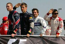 Scott Speed, Michael Ammermuller, Timo Glock ve Sakon Yamamoto