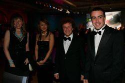 Gala dinner: Fernando Alonso and Leo Sayer