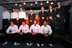 Adrian Sutil; Christijan Albers; James Key; Mike Gascoyne; Colin Kolles; Michiel Mol; Victor Muller;