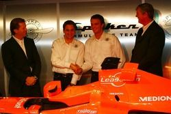 Michiel Mol; Christijan Albers; Giedo van der Garde; Victor Muller, Spyker-Ferrari