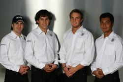 Markus Winkelhock; Adrian Valles; Giedo van der Garde; Fairuz Fauzy, Spyker-Ferrari