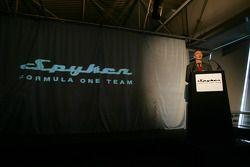 TV presenter Tony Jardine announces the launch