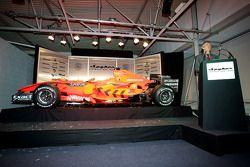 TV presenter Tony Jardine introduces the car