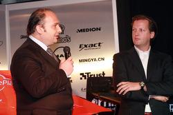 Spyker Formula 1 Team launch, Silverstone, 5th February 2007, Takım Patronu Colin Kolles ve Michiel