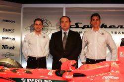 Christijan Albers, Colin Kolles; und Adrian Sutil, Spyker-Ferrari