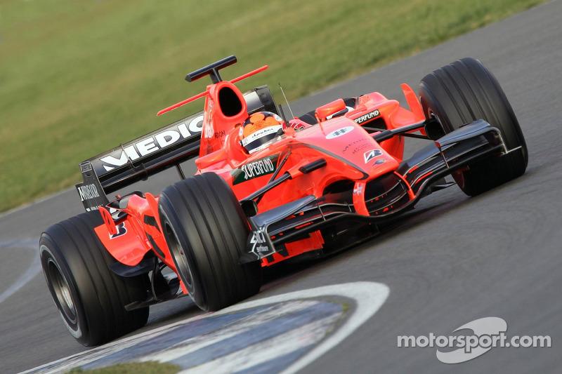 Spyker, 2007; Pilotos: Christijan Albers, Adrian Sutil, Markus Winkelhock e Sakon Yamamoto