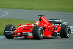 Christijan Albers test ediyor2007 Spyker-Ferrari F8-VII
