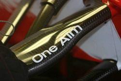 One aim sticker, suspension, Toyota TF 107