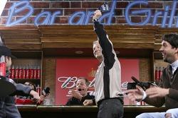 Dale Jarrett draws the pole winning bottle