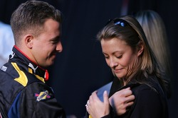 A.J. Allmendinger with wife Lynne