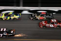 Denny Hamlin, Kyle Busch, Greg Biffle and Dale Earnhardt Jr.